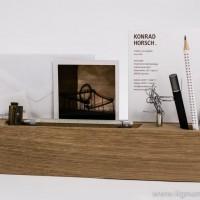 Stift- und Papierhalter Holzsorte Eiche