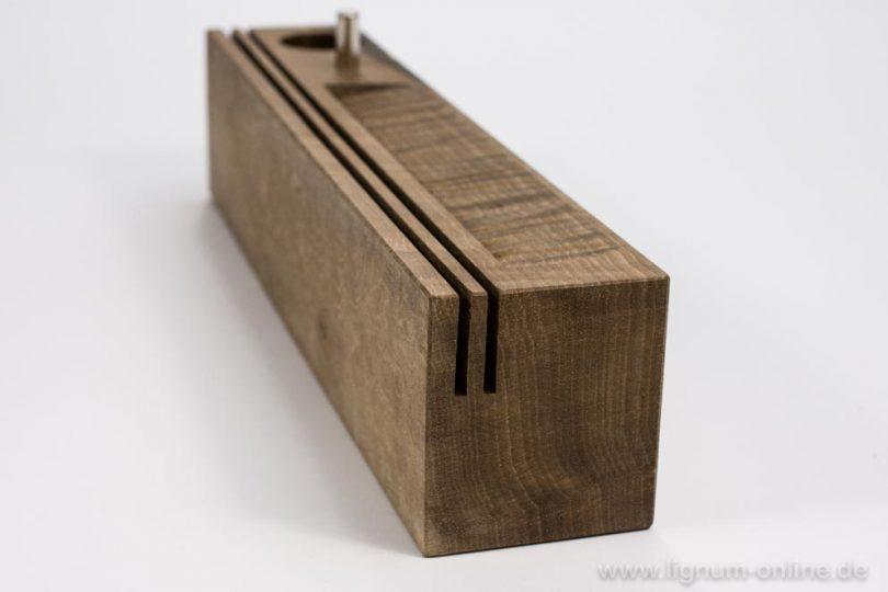 Stift- und Papierhalter Holzsorte Nussbaum