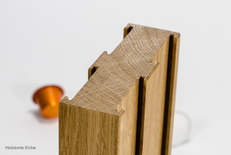 Kapselhalter Holzsorte Eiche